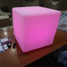 2016 Hot Wonderful Plastic Change Color LED Light Cube Light,Small Seat