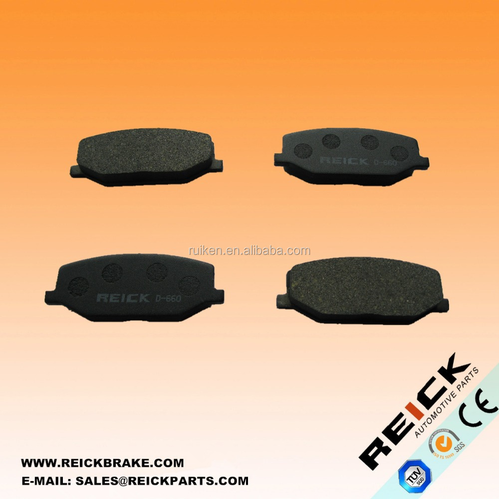 CERAMIC MATERIALS DISC brake pad D660 BACKING PLATE WITH HOLES