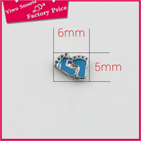 Yiwu custom made logo imitation jewelry charms jewellery wholesalers los angeles,Enamel blue zinc alloy bead charms