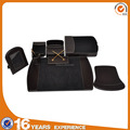 Eight piece in black Guangzhou Factory supply Wood and PU desk accessory set