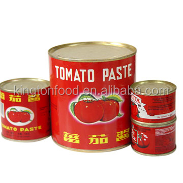 Chinese brix 30-32% brixNatural tomato paste in cans or drums for West Africa