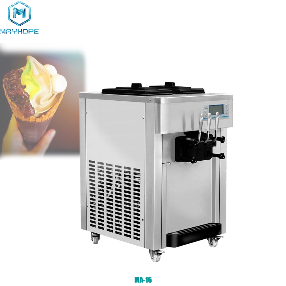 Chinese Manufacturer 3 <strong>Nozzles</strong> Soft Serve Flavor Vending Ice Cream Machine