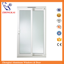 Frosted glass sliding doors with stainless steel hardware