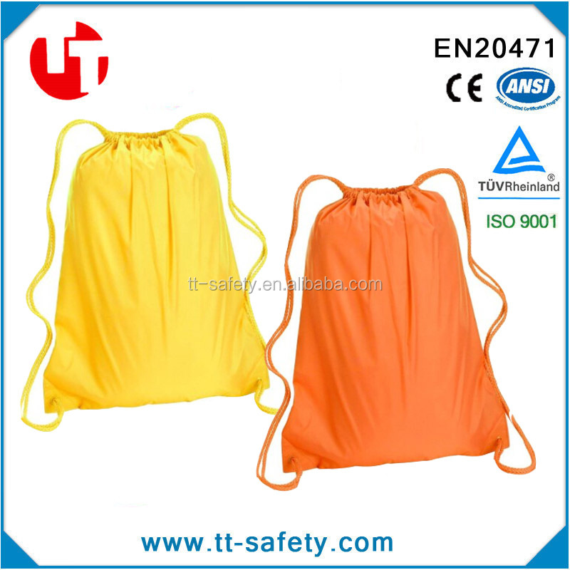 orange yellow black pink cheap custom promotion waterproof nylon drawstring bag
