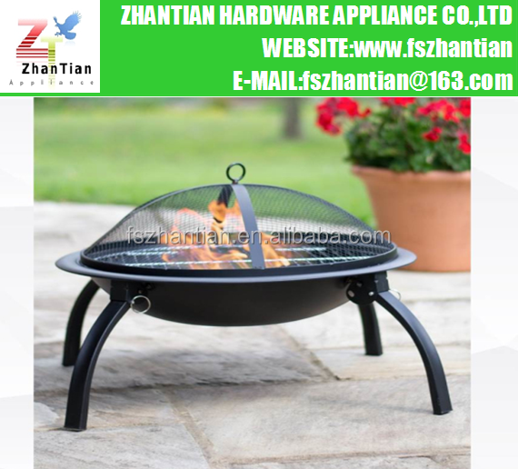 Outdoor Steel Folding BBQ Fire Pit/Fire Bowl