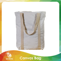 High Quality Plain White Blank Cotton Canvas Fabric Shopping Tote Bag