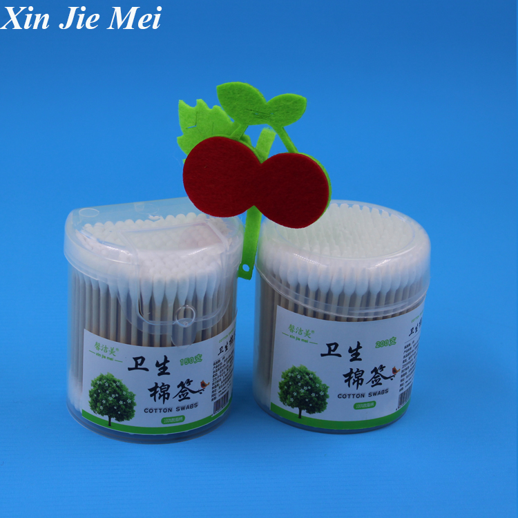 beauty use plastic sterile alcohol cotton swab sticks