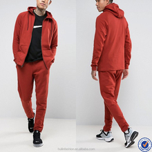 plain red top design tracksuit for men zip up hoodies and sweat pants set plain tracksuit