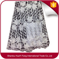 Tulle lace fabric african french net fabric market in dubai new york wholesale fabric lace HY0514