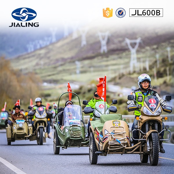 JH600B JIALING 600cc motorcycle and sidecar,as cool as the driver with motorcycle jackets