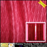 Most hot sale crinkle polyester satin curtain fabric