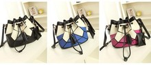 New winter fashion splicing package in Europe and Americ lady charming bag casual women korean restostyle handbags