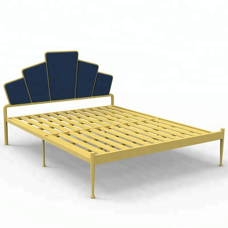 Modern Metal Frame Double Mesh <strong>Bed</strong> for Hotel Bedroom