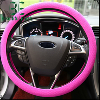 13 Inch Genuine Silicone Wood Grain Car Steering Wheel Cover