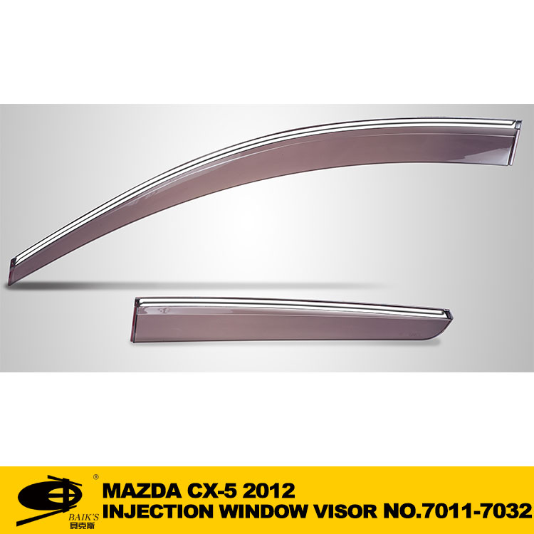 Window Vent Visor Deflector Rain Guard Sun Visor Rain Shield Visor INJECTION DOOR VISOR FOR MAZDA CX5 2012