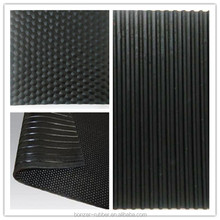 Cheap Black Hammer top ribbed cow rubber matting cow mat manufacture