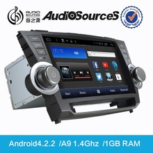 world tech car dvd for Toyota highlander with dual lens car camera with gps SD USB 3G TV
