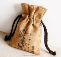 Custom Printed Burlap Bags Natural Jute Promotional Bags Small MOQ Free Shipping