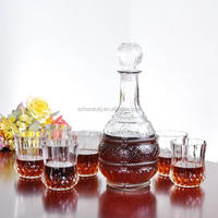 Glass Wine Bottle Wine Decanter Dispenser Container Whiskey Liquor Carafe Water Jug Alcohol Decanter
