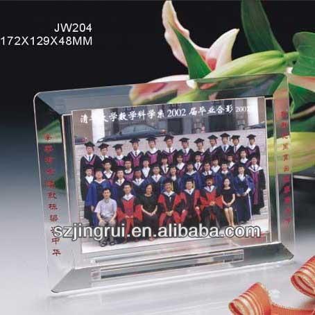 Customized crystal photo frame souvenir