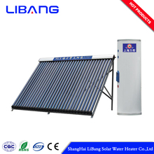 Selected material pressurized heat pipe solar water heater