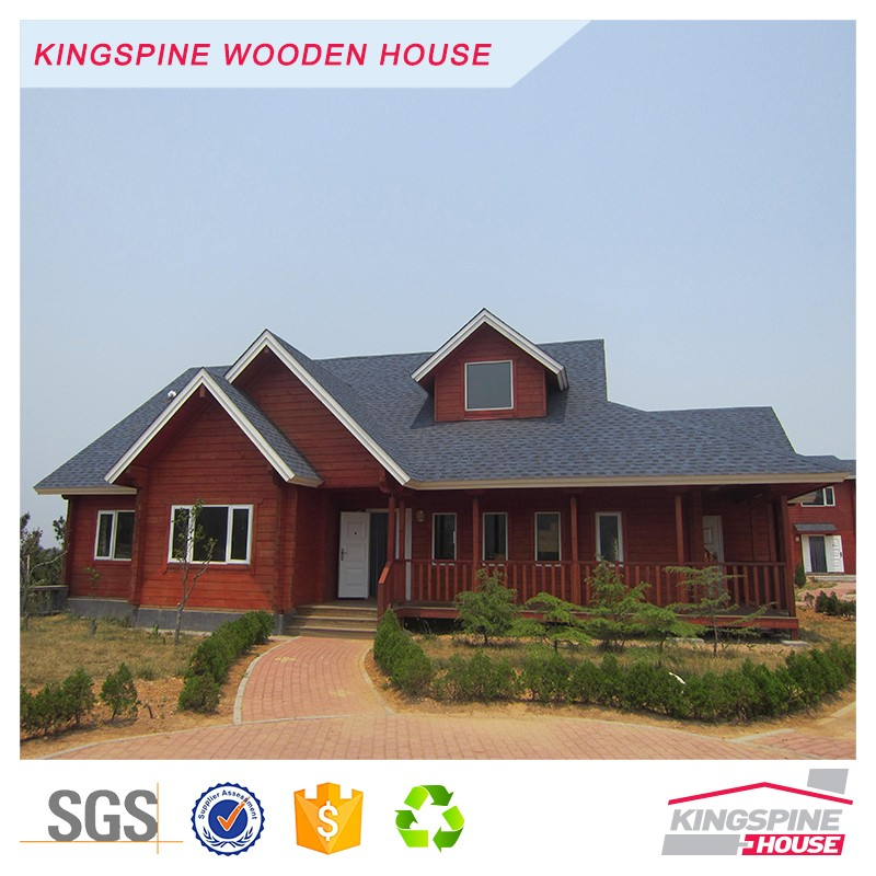 Luxury Villa Prefabricated log cabin Two-floor wooden house KPL-029