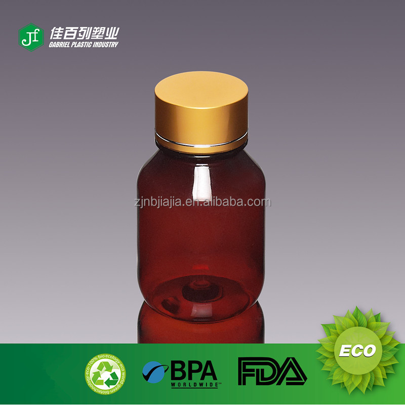 118ml China factory price hot sale pharmaceutical safe use PS hard material orange plastic pill bottle
