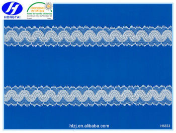 Swiss voile lace fabric nylon lace trim for women underwear from changle hongtai