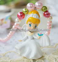 hot princess character pendant chunky bead necklace, cartoon character children holiday jewelry,little girl best party jewelry