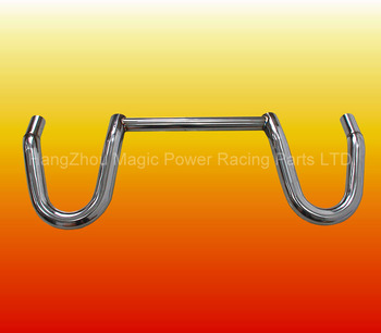 Dual Loop Hoop Bar Stainless Polished Safety Roll Bar For