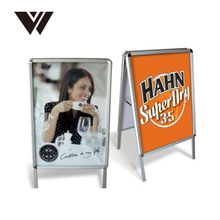 front open outdoor sign board snap frame display stand A board A frame sign advertising poster stand