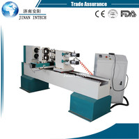 For funiture legs high speed Double axis double blades name of lathe machine