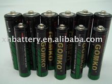 1.5v carbon zinc battery AAA, R03, UM-4 dry battery