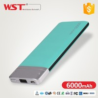 Fashionable Design Powerbank 6000mah Candy Color