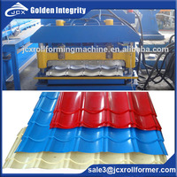 DX 828 automatic color glazed steel tile corrugated roof panel steel roll forming machine