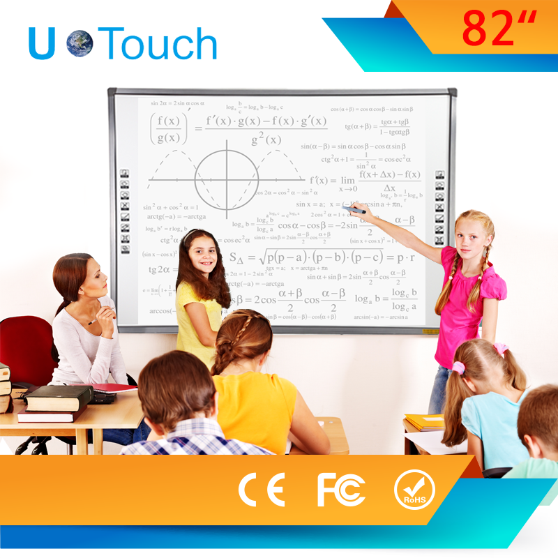 82 inch multi touch IR touch interactive white board with built in free education software