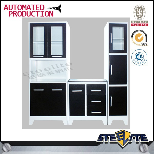 High quality stainless steel kitchen pantry cabinets/prefabricated kitchen cabinets