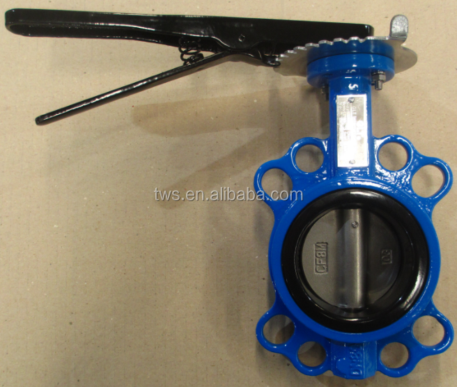 "3"" WCB Carbon Steel wafer type butterfly valve with Handle Lever fast delivery"