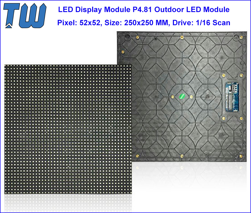 SMD2727 P4.81 LED Panel Outdoor Concert Rental Display Screen Natural Vivid Color High Contrast Ratio