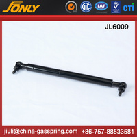 Hydraulic cylinder car door gas spring with lever release systems