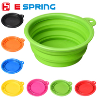 Lightweight Collapsible Silicone Compact Pet Feeding Bowl Dog Cat Travel Dish