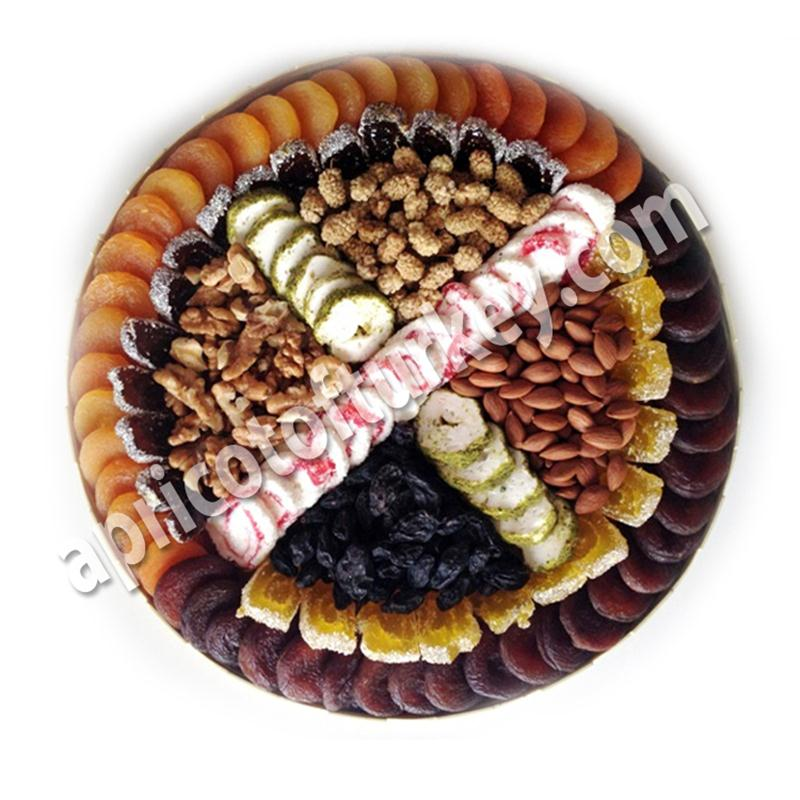 Gift Package 55, Turkish Apricot, Dried Apricot, Dried Fruit, Nuts, Candy, Sweet, Confectionery, Marshmallow