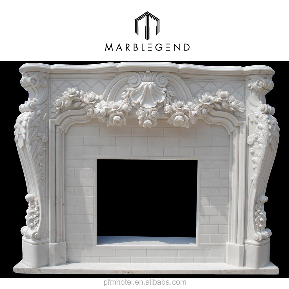 PFM best quaility custom vivid hand carving marble fireplace