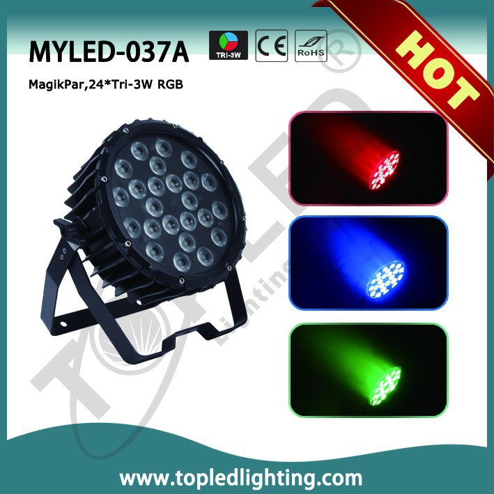 High power 3in1 color mixing and sound active rgb dmx led garden decoration par can