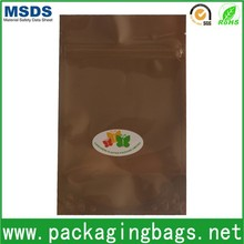 food packaging color printed polyester zipper bags