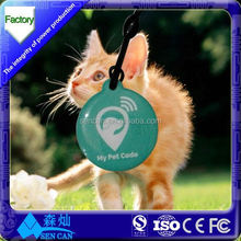 Gold Supplier CMYK Color Printing RFID NFC Dog Tag for Pet Identify