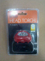 HUASHUN red led head torch with three LED 15000MCD