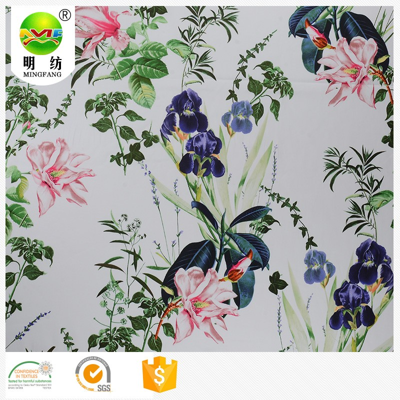 Wholesale custom digital printing cotton lycra fabric
