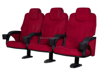 low pricve elegant movie/ cinema seat for sale with single leg ,soft theater chair