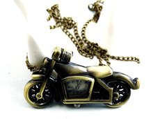 free shipping!!! cartoon motorcycle pendant pocket watch @ mixed Antique Bronze Mechanical Locket Watch pocket